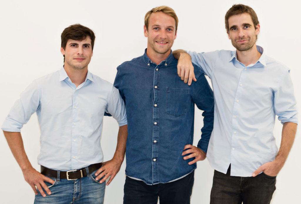 The Back Market founder team: Quentin Le Brouster (CTO), Thibaud Hug de Larauze (CEO), Vianney Vaute (CMO)